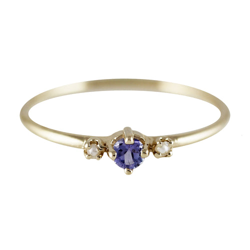 THEA TANZANITE WITH PEARLS RING