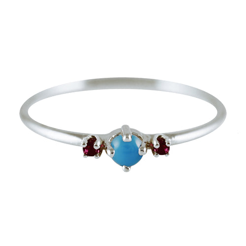 THEA TURQUOISE SILVER RING