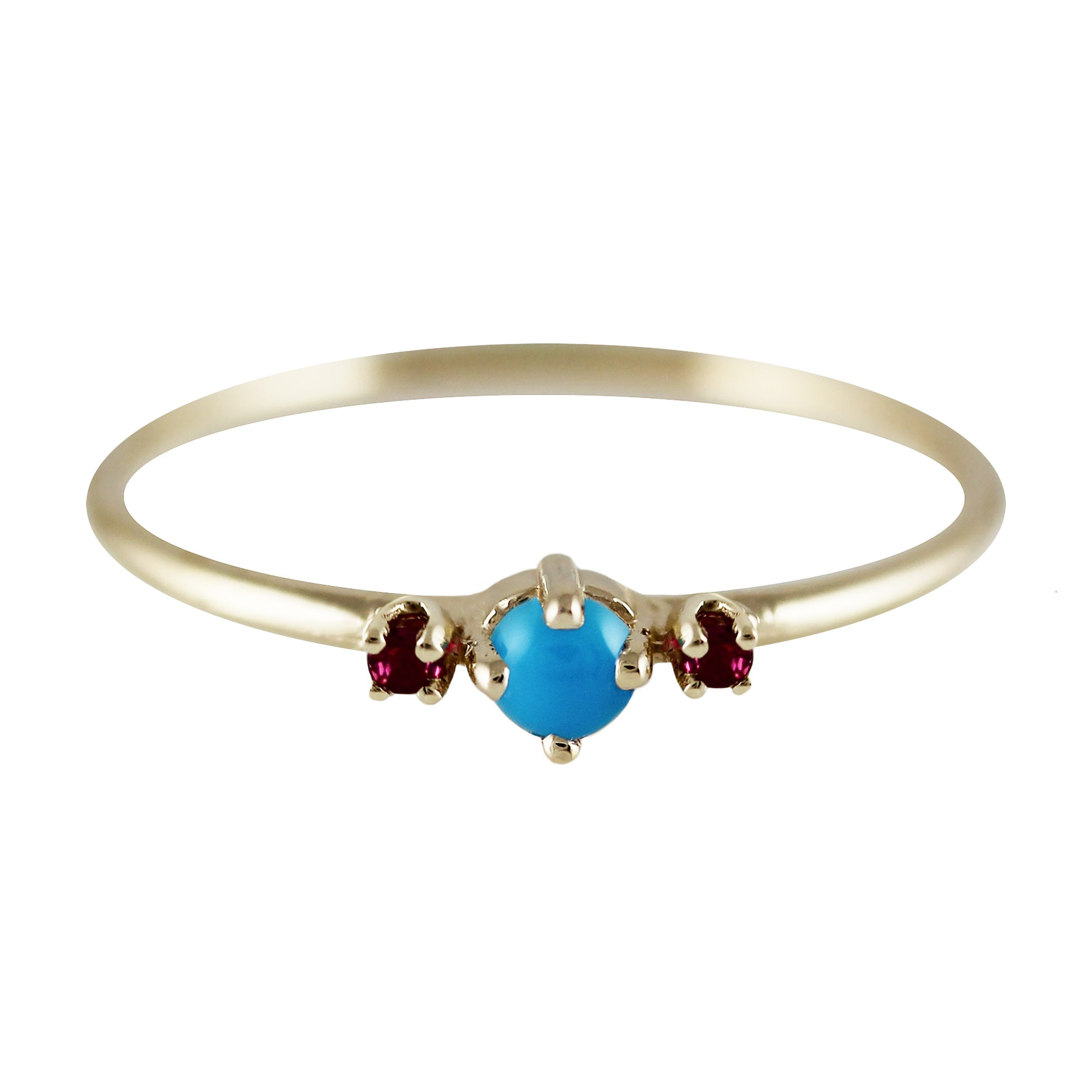 THEA TURQUOISE WITH RUBIES RING