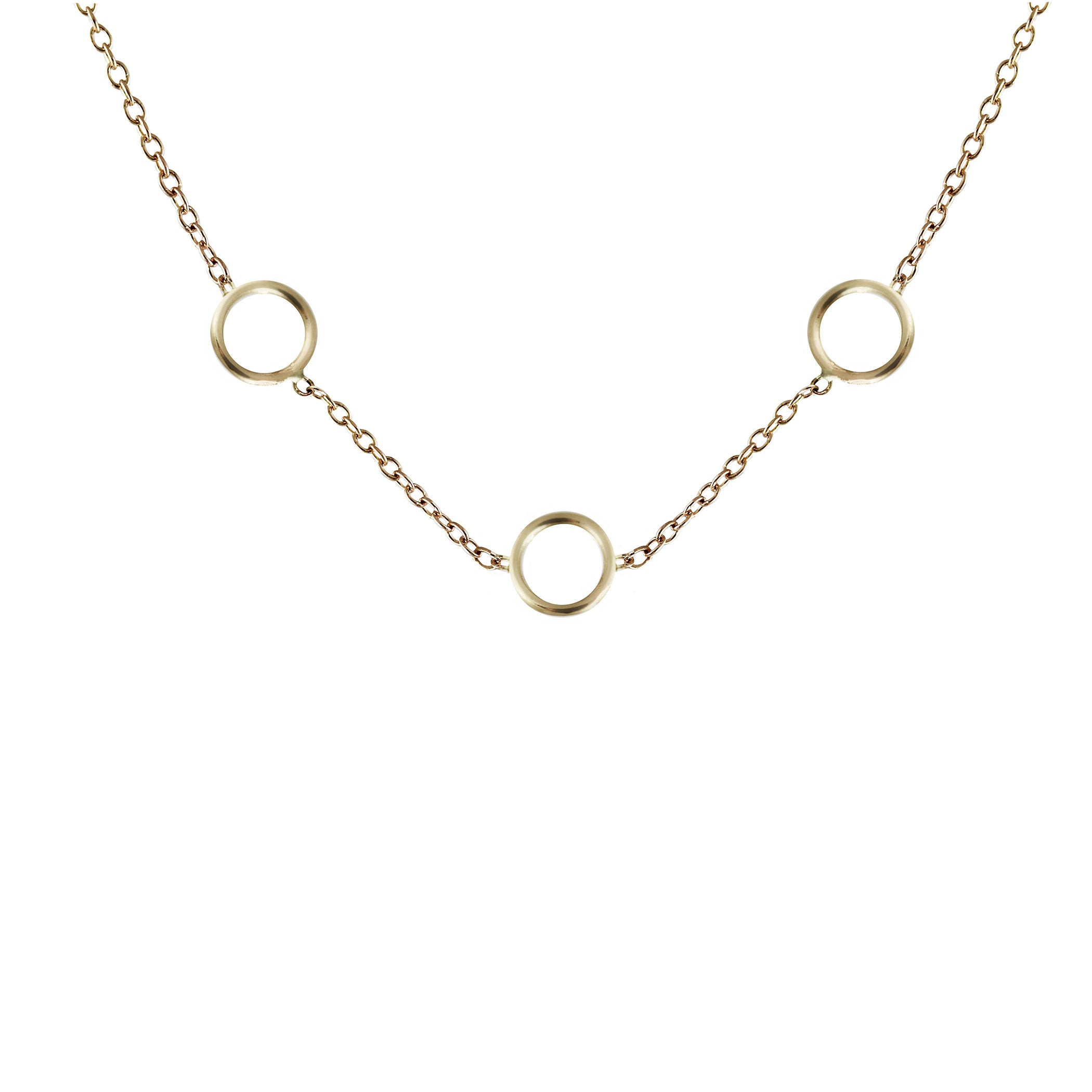 TINY CIRCLES TRIO NECKLACE