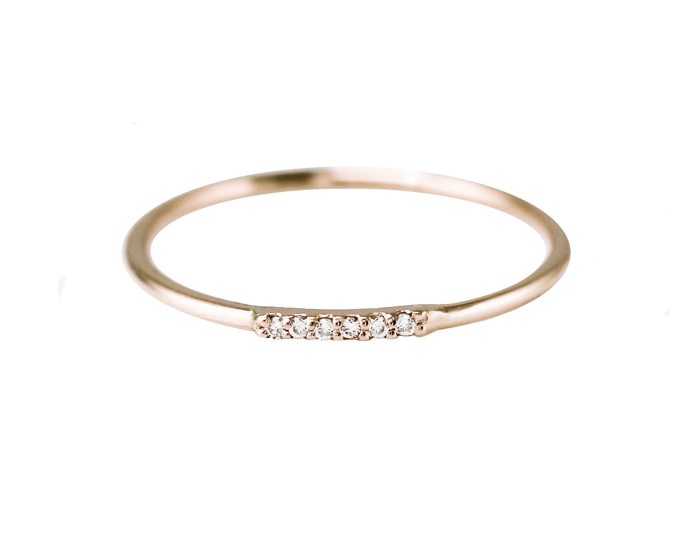 TINY DIAMOND PAVE RING