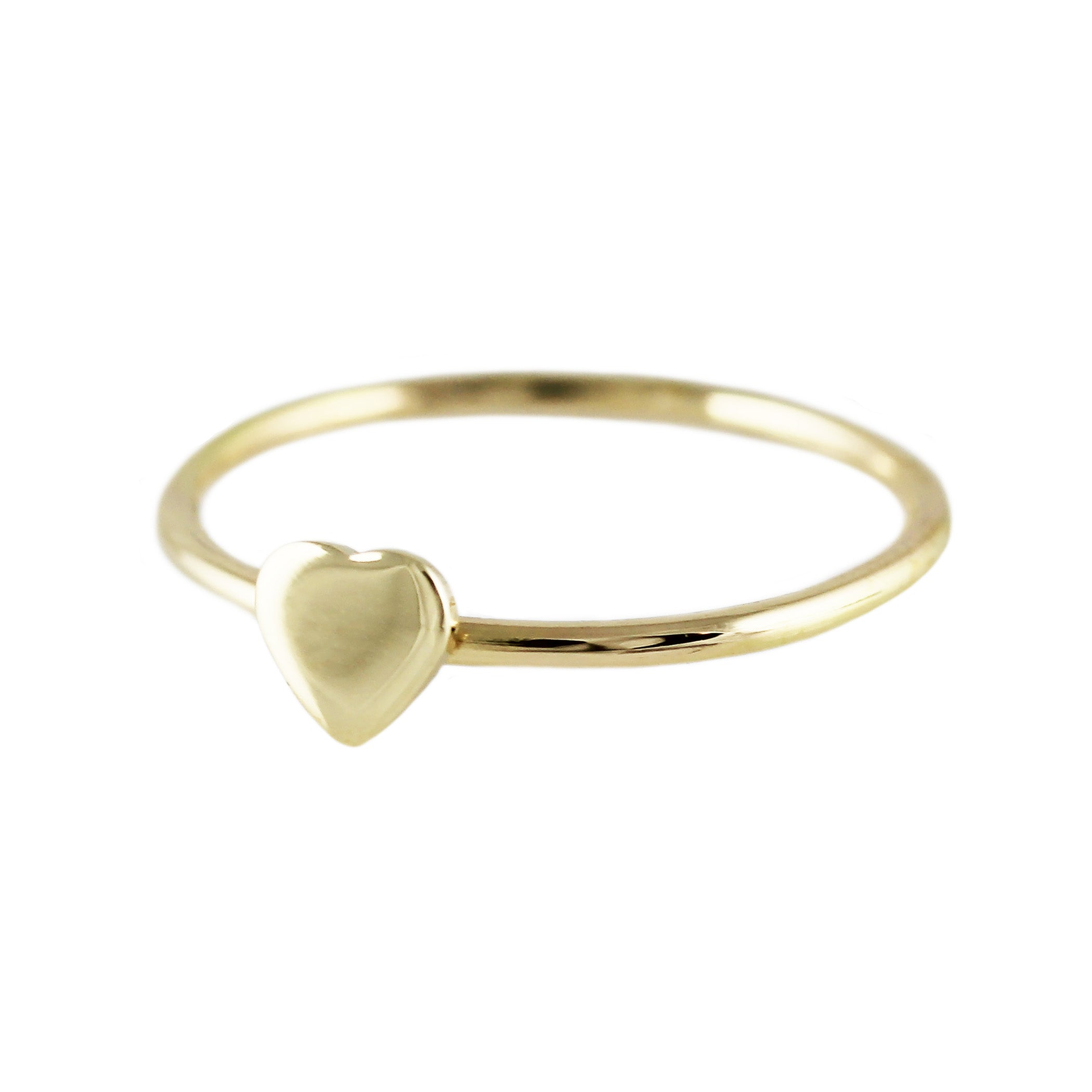 14K TINY HEART RING