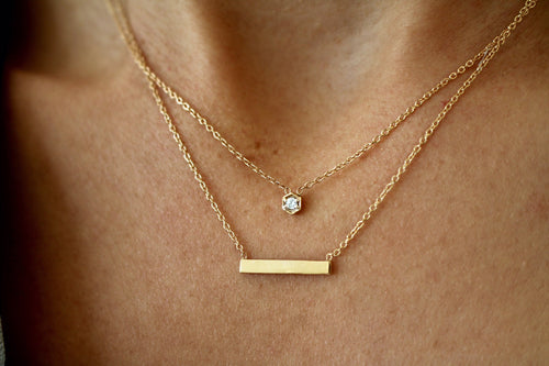 "1/2"" BAR NECKLACE"