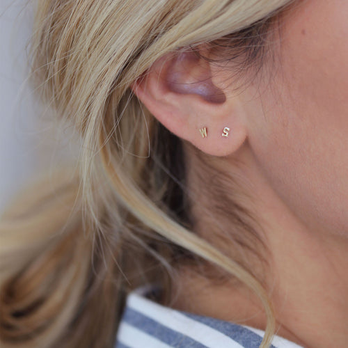 earrings sharp op usm p fmt earring resmode vermeil jewelry women madewell single letter stud qlt shopmadewell
