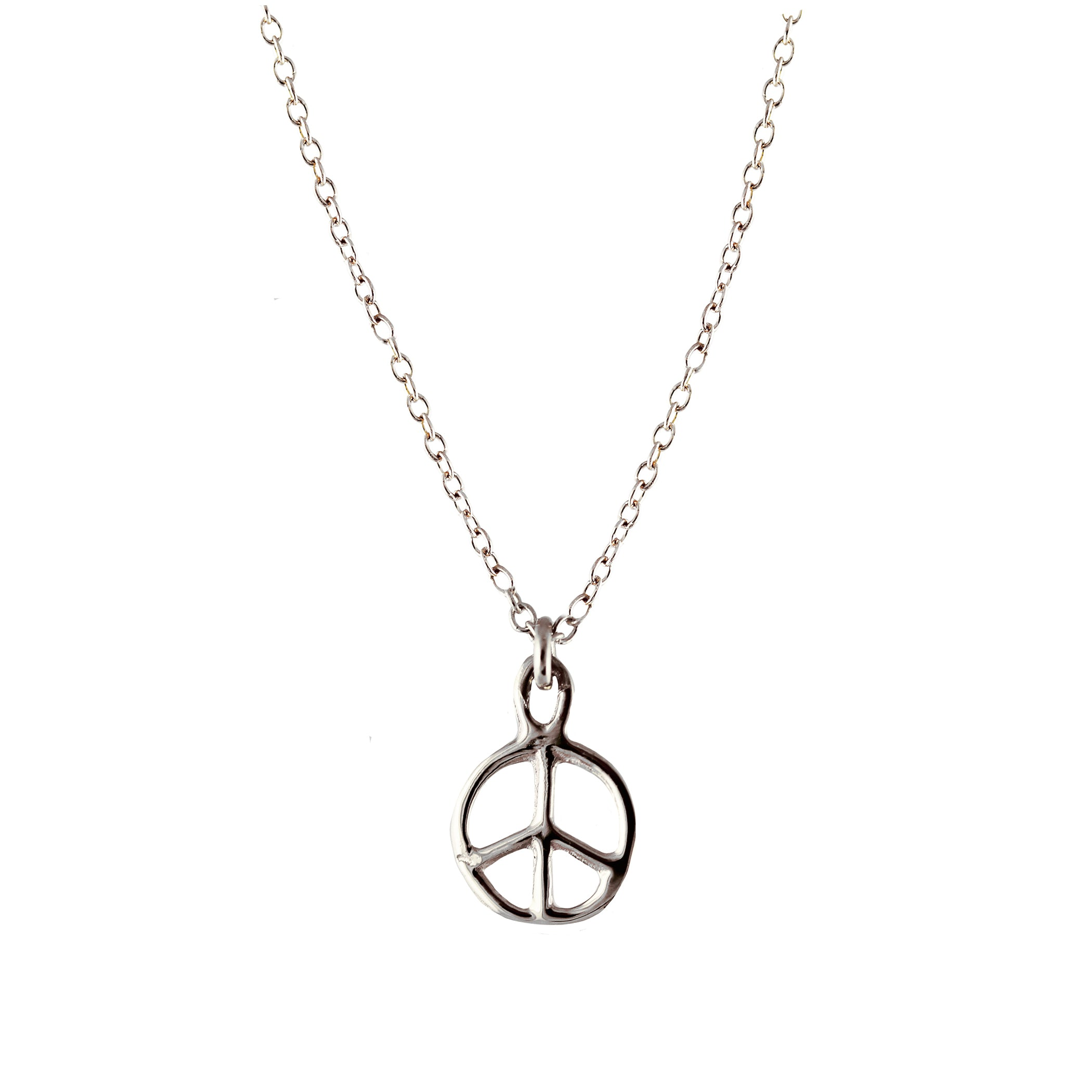 14K TINY PEACE SIGN NECKLACE