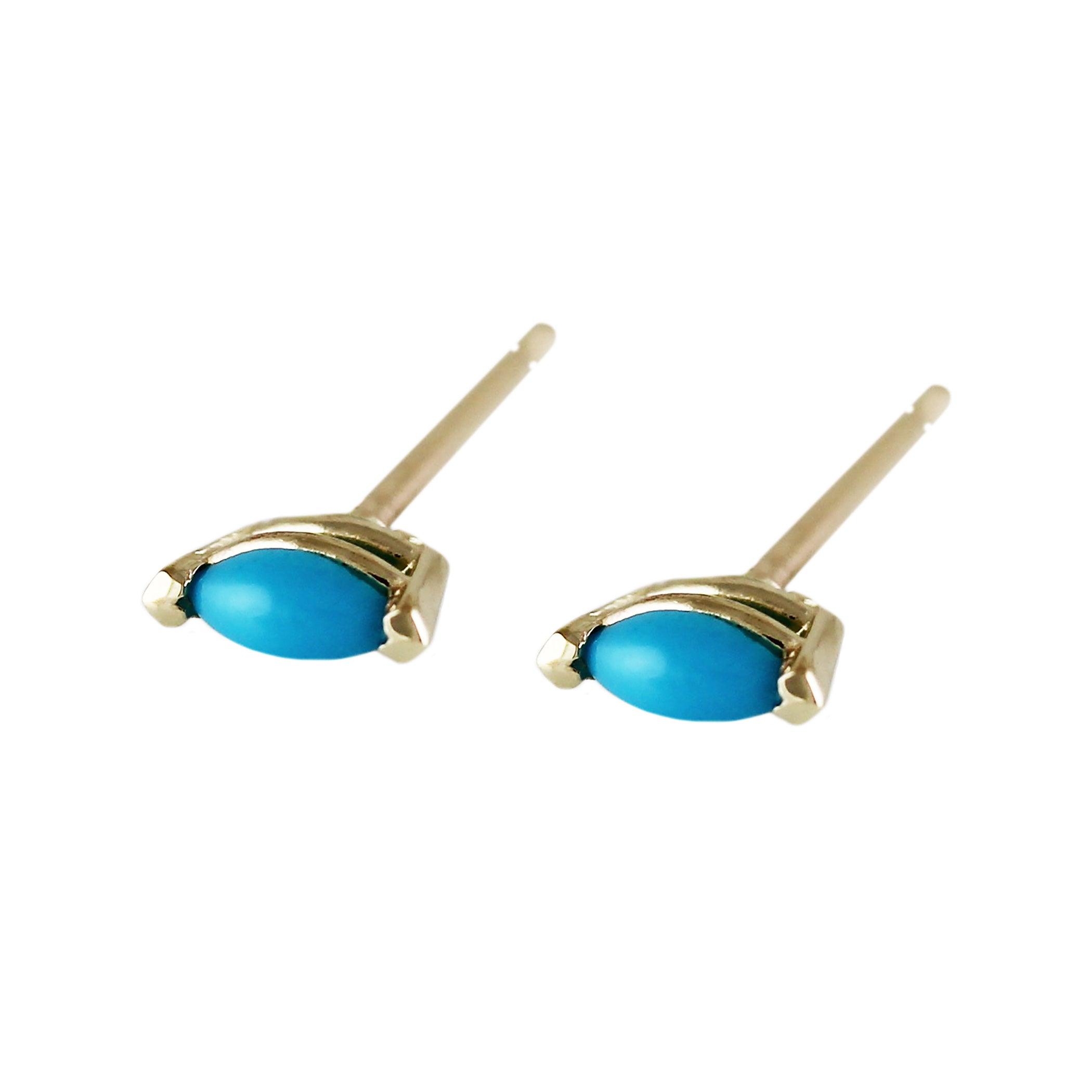 ruby jane dipped turq stud turquoise products earrings gold points of