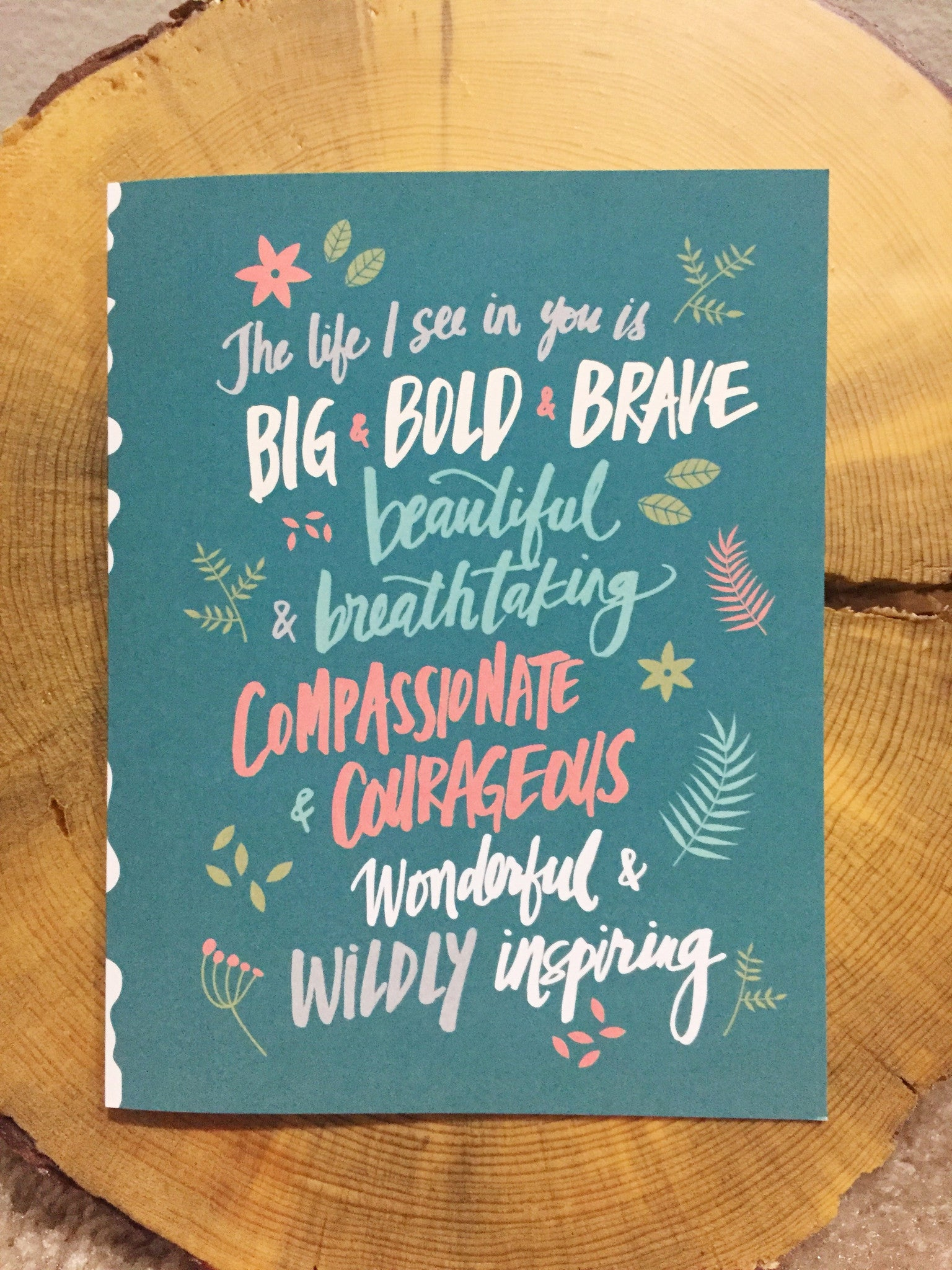 The Life I See in You is Big, Bold, and Brave Cards (Set of 8)