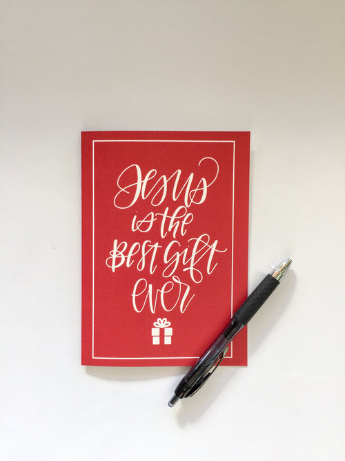 Jesus Is The Best Gift Ever Christmas Cards 8-Pack