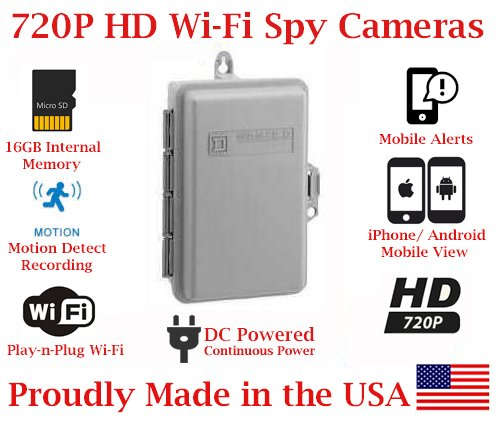 Wireless Spy Camera Utility Box for Smartphones - Spy Shop SA