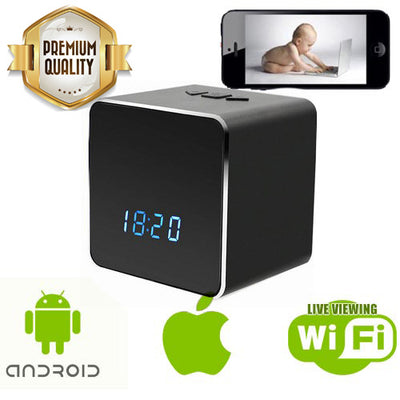 Spy Clock with Bluetooth Speaker - WiFi - Spy Shop SA