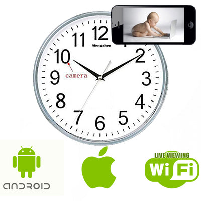 Wireless Spy Clock for Smartphones - M2 - Spy Shop SA