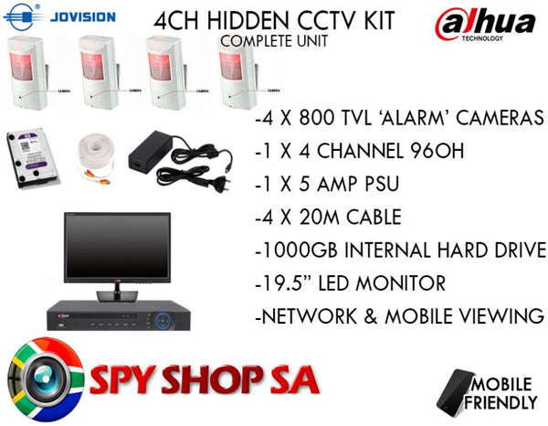PIR Spy Camera CCTV System - Spy Shop SA