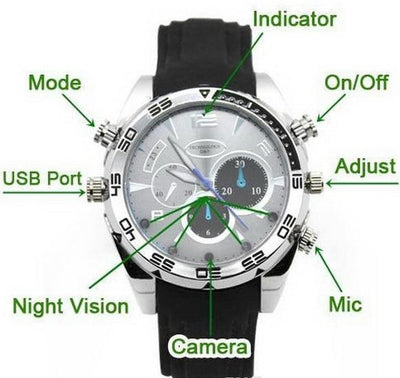 Spy Camera Watch with Night Vision