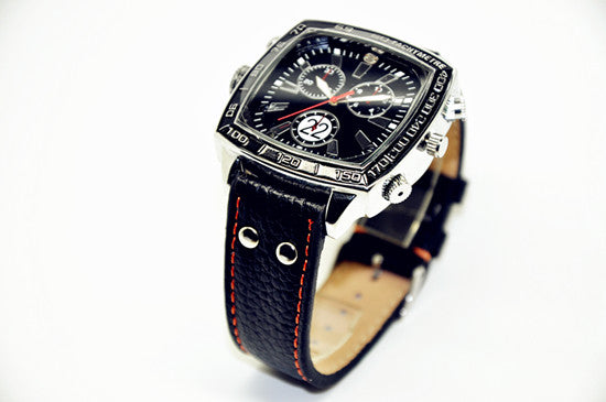 Leather Spy Camera Watch - Spy Shop SA