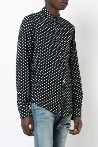 {Amiri / 01 clothing / 02 top / 02 shirt} Polka Dot Cashmere Shirt