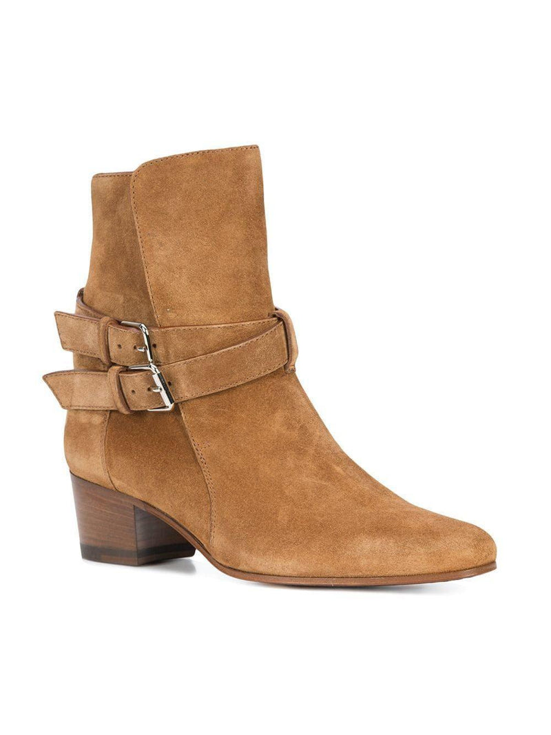 Buckle Boot Brown Suede-Amiri-Patron of the New