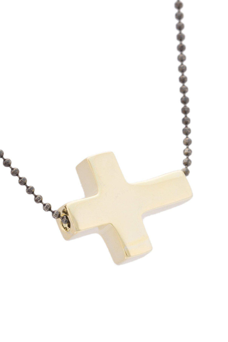 Mini Side Cross Necklace-HUES-Patron of the New