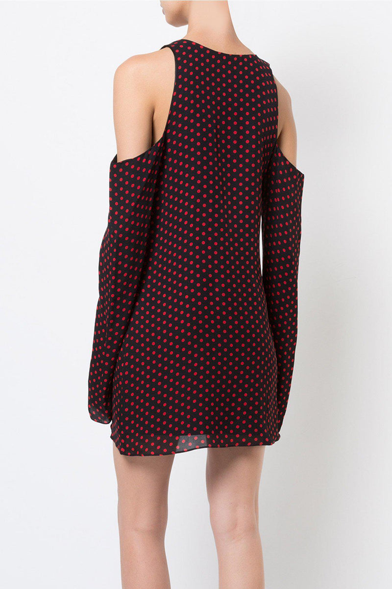 Shoulder Cutout Polka Dot Dress-Amiri-Patron of the New