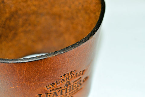 Handmade Leather Coffee Sleeve