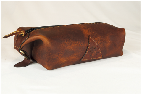Handmade Leather Sheik Dopp Kit