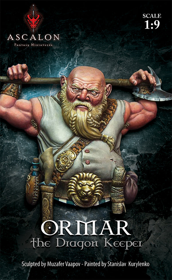 Ormar the dragon keeper 1:10 bust - Boxart