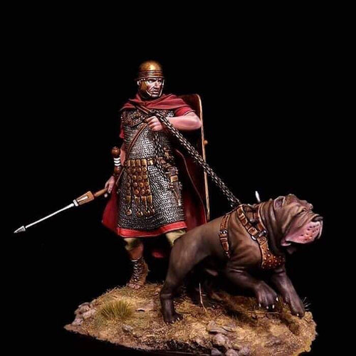 Roman Soldier with Neapolitan Mastiff 75mm