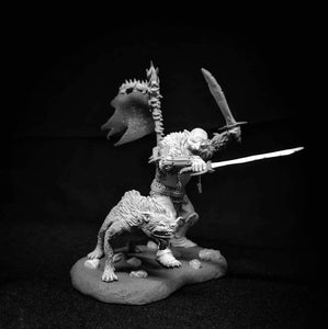 Orc Warrior with Lupinus, 54mm