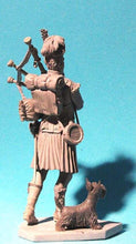 Load image into Gallery viewer, Scottish bagpiper with terrier 75mm