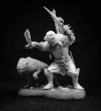 Load image into Gallery viewer, Orc Warrior with Lupinus, 54mm