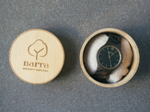 Classic Dusk in Dark Sandalwood and Black - Narra Wooden Watches