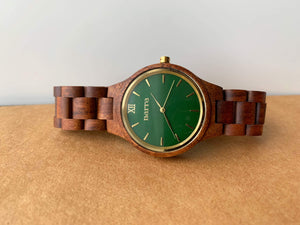 Classic Forest in Acacia and Green - Narra Wooden Watches
