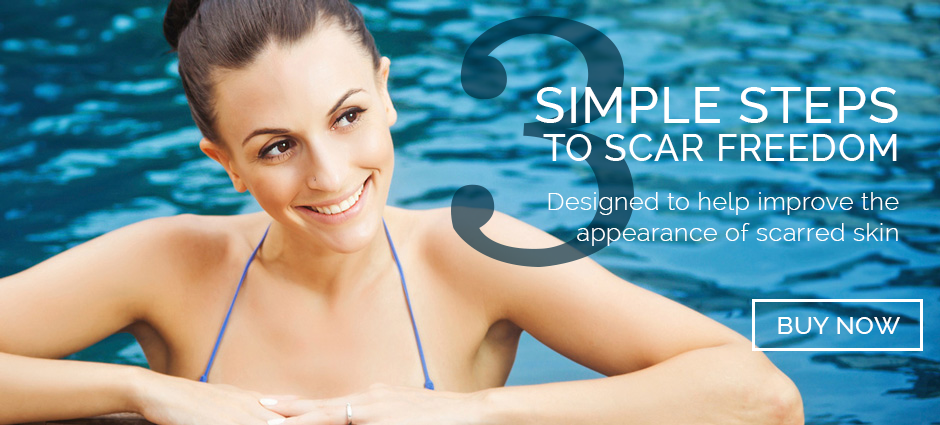 3 Simple Steps to Scar Freedom. Designed to help improve the appearance of scarred skin.