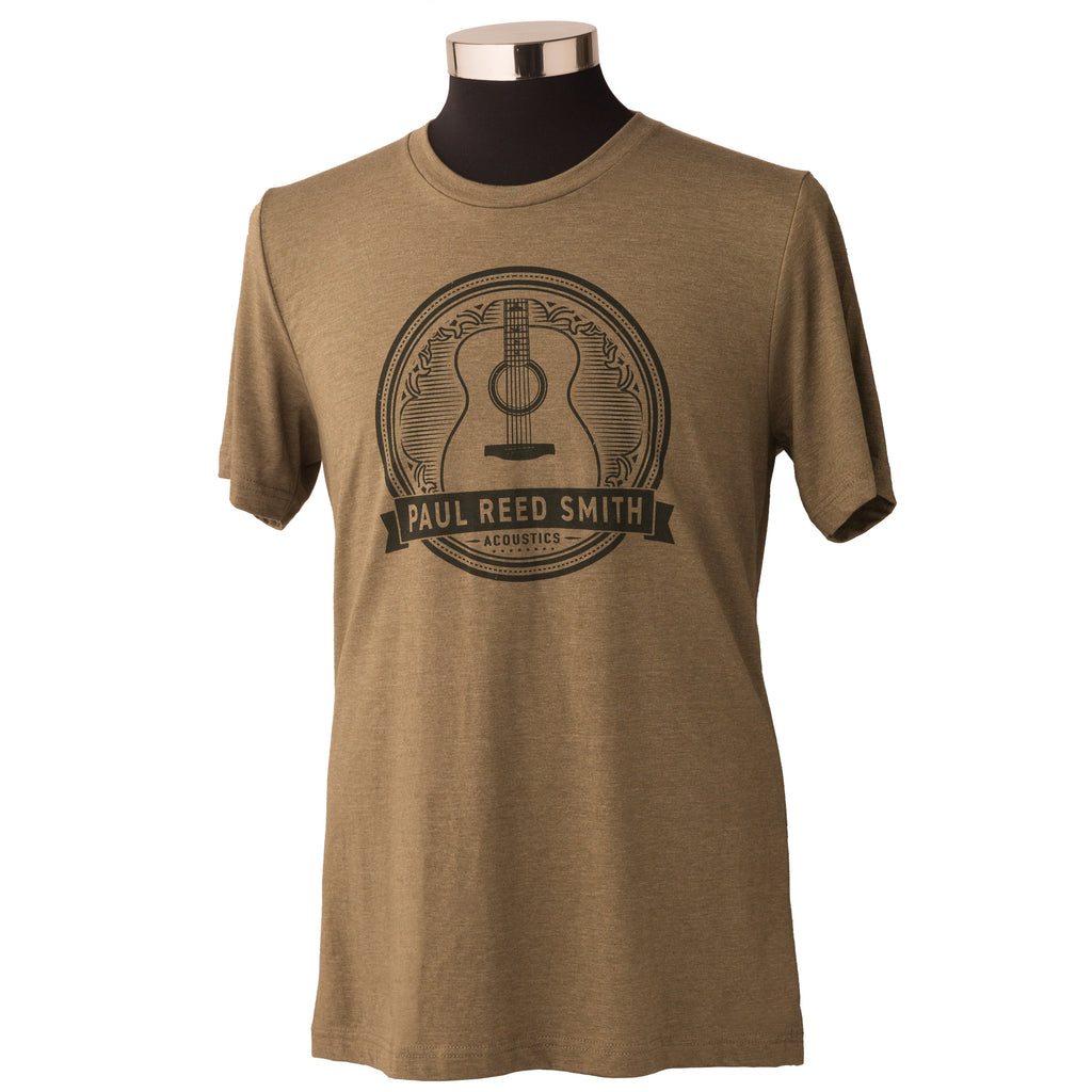 PRS Acoustic Guitar Design T-Shirt, Heather Olive