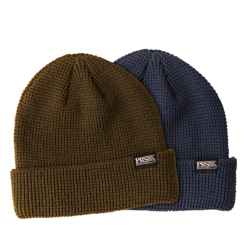PRS Block Logo Knitted Beanie (Green or Blue)