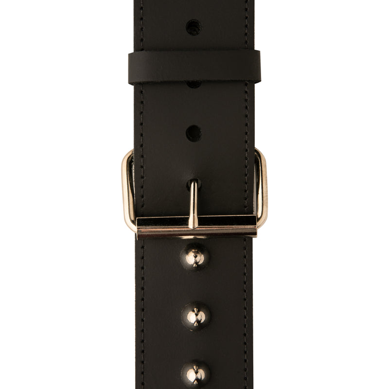"PRS 2"" Black Studded Leather Guitar Strap"