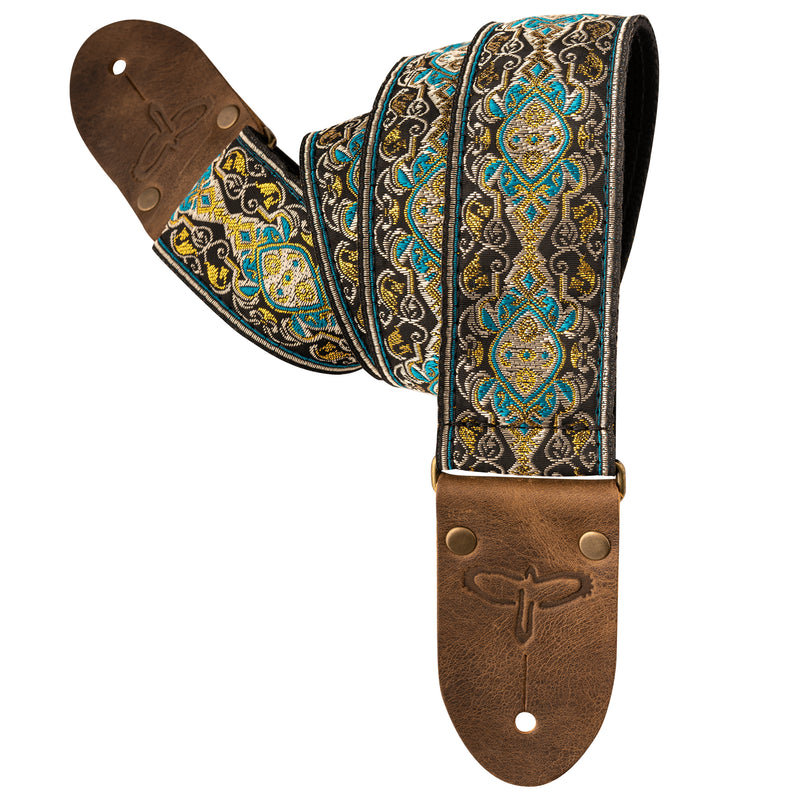 "Deluxe 2"" Retro Guitar Strap - Teal"