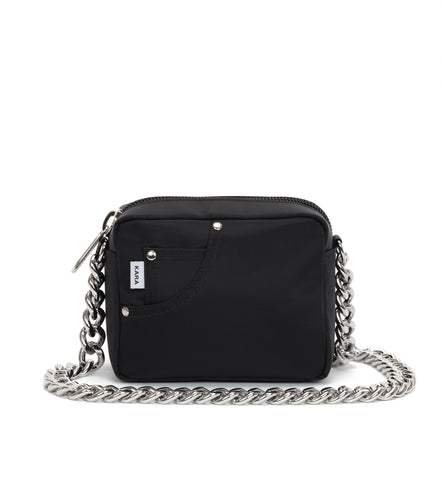 Black Mini Chain Jean Bag