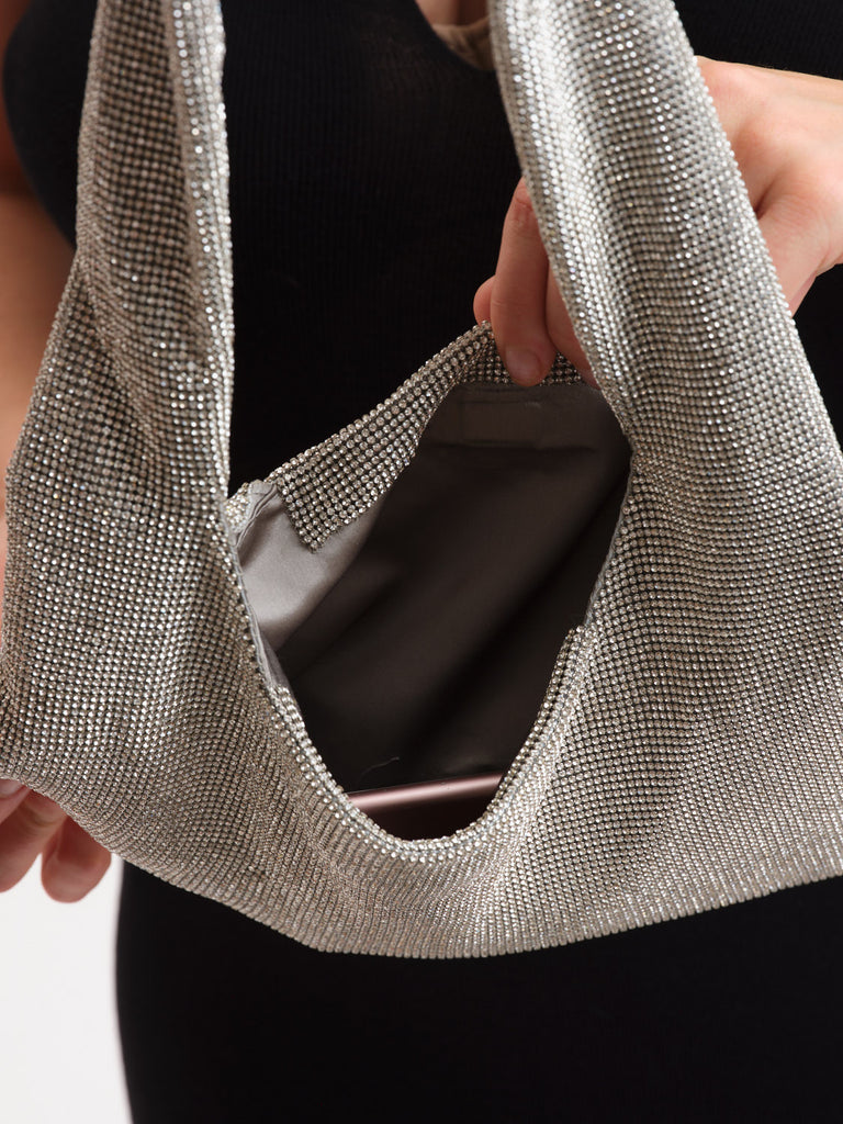Crystal Mesh Armpit Bag