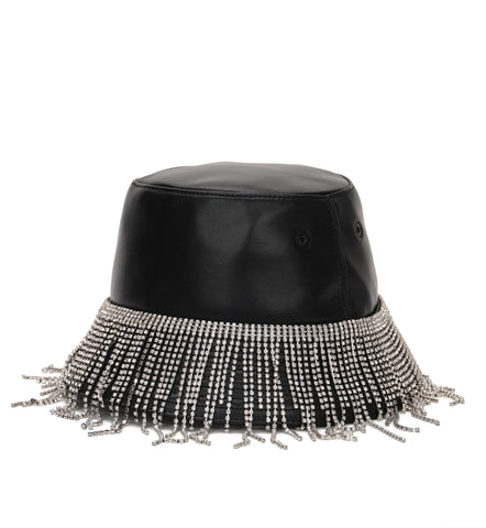 Crystal Fringe Bucket Hat