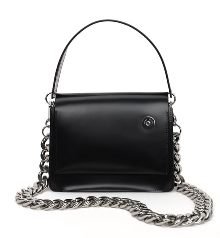 Pinch Shoulder Bag with Chain