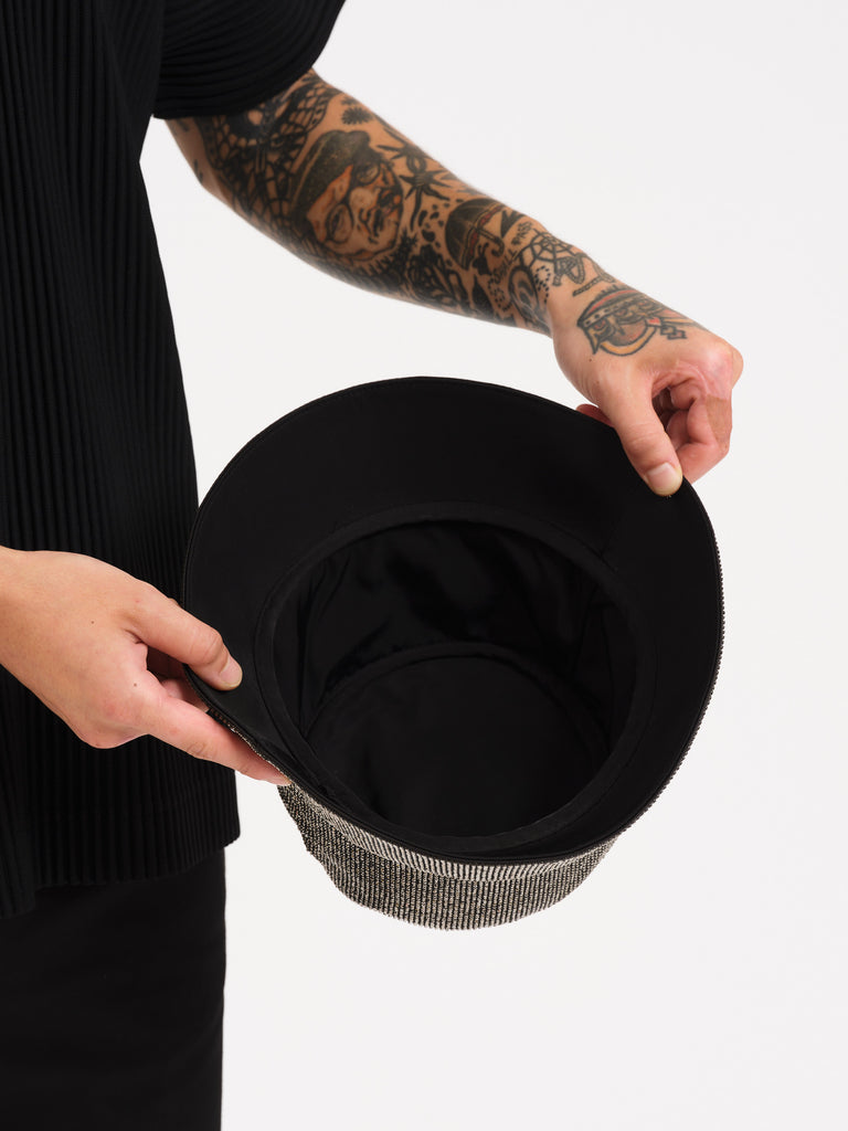 Hematite Crystal Mesh Bucket Hat