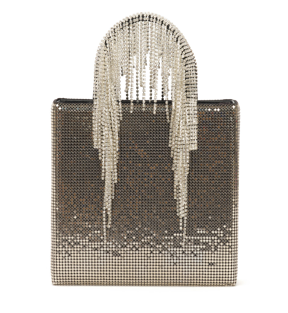 Chain Mail Baby Tote with Crystal Fringe