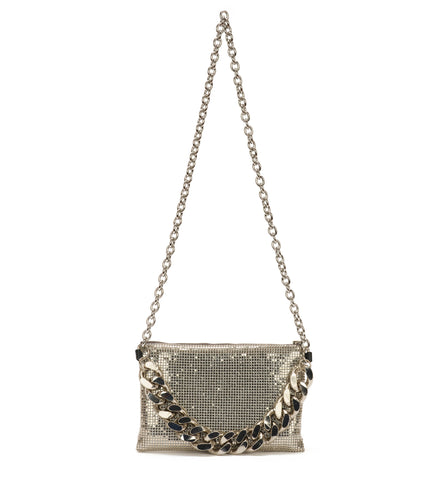 Silver Chain Mail Crossbody with Chain Link Straps