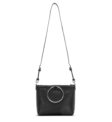BLACK RING CROSSBODY