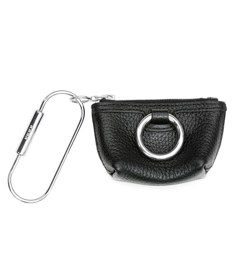 BLACK RING POUCH KEY CHAIN