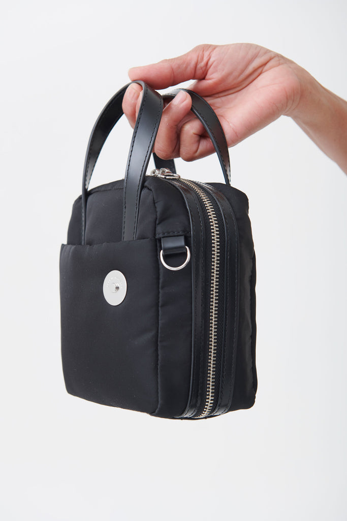 Black Nylon Brick Bag