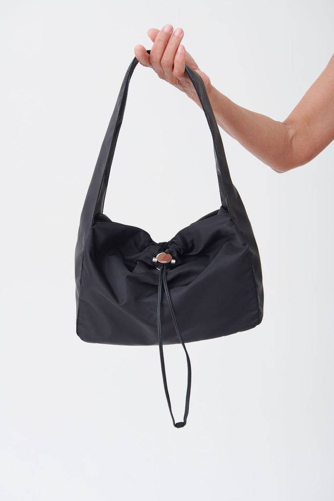 Black Shoulder Cloud Bag