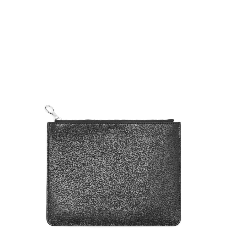 BLACK EIGHT INCH POUCH