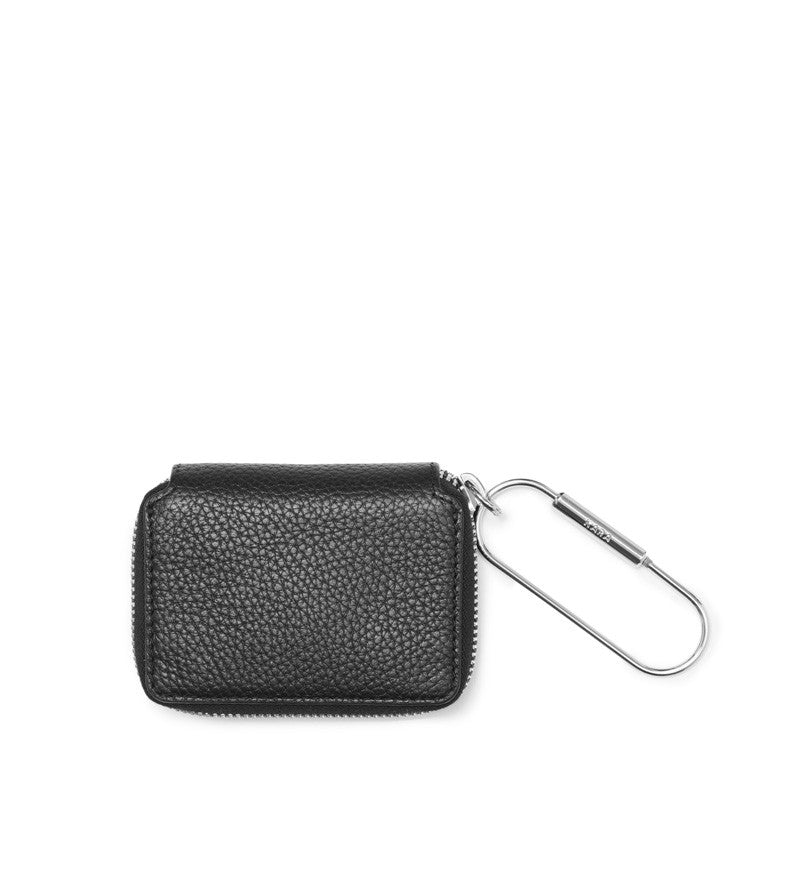 BLACK SMALL ZIP WALLET