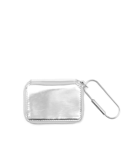 SILVER MIRRORED SMALL ZIP WALLET